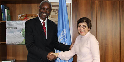 Ibrahim Thiaw and Monique Barbut