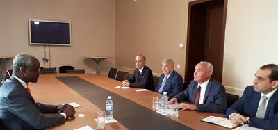 Ibrahim Thiaw at the Ministry of Foreign Affairs/Azerbaijan